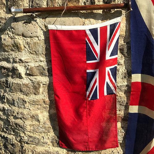 Vintage red ensign, staff and bracket - ref 4128