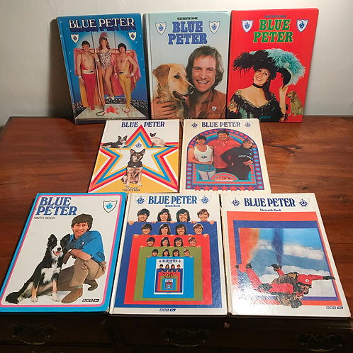 Mid Century 1970s Blue Peter Annual Bundle x 8