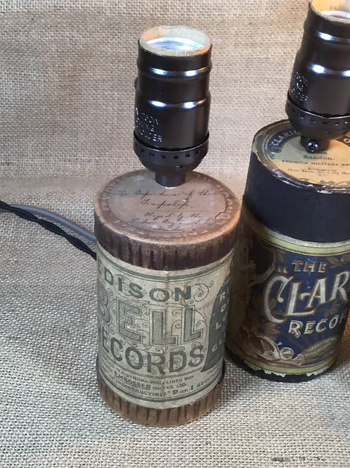 Genuine Thomas Edison Record Case Lamp - Brown