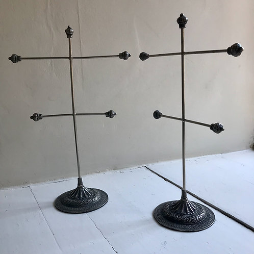Vintage wire frame jewellery stand