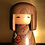 Thumbnail: Mid 20th Century Sosaku Kokeshi doll standing 18.5cm tall.