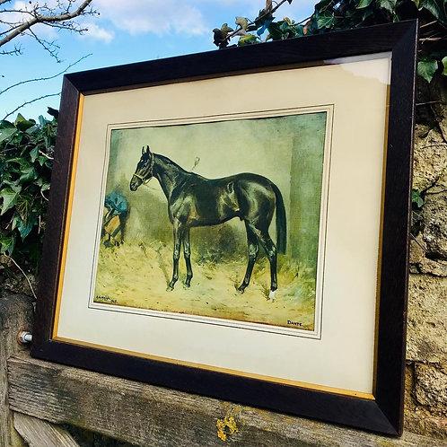 1940's Oak framed print of Derby winner Dante.