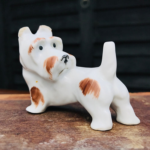 1920s/30s Pfeffer Porcelain Terrier Dog Ornament