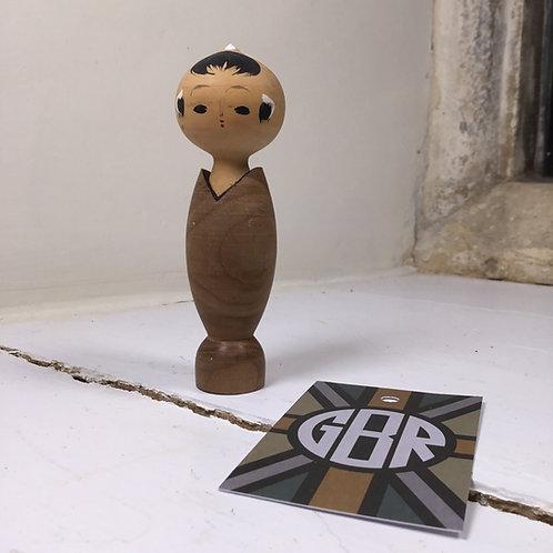Vintage Creative Kokeshi man with shell body - #3620