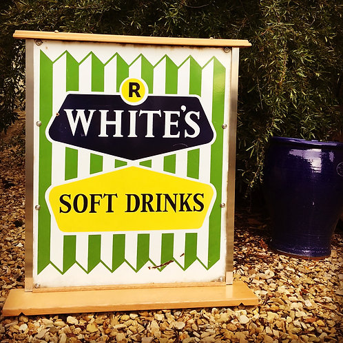 R White's Lemonade advertising sign