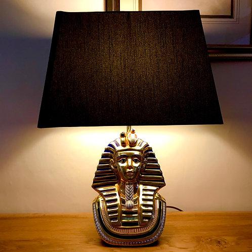 Mid 20th Century Tutankhamun Table Lamp & New Box Shade