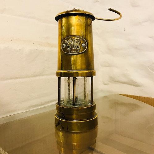 Late Mid20thCentury decorative brass Miners Davey Lamp
