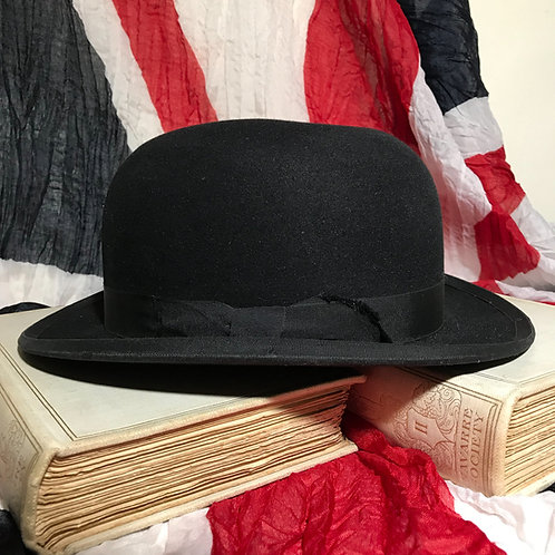 Vintage Unlined Bowler Hat