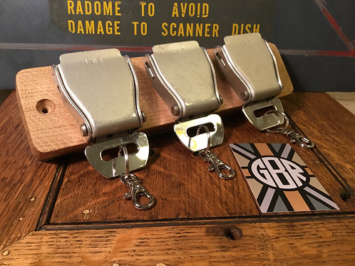 Vintage Aero Belt Buckle Key Rack - 3 buckle