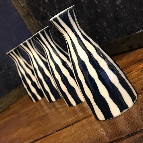 Hand painted vintage single stem vase