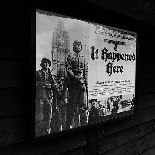 Framed original vintage film poster - It Happened Here - 1966