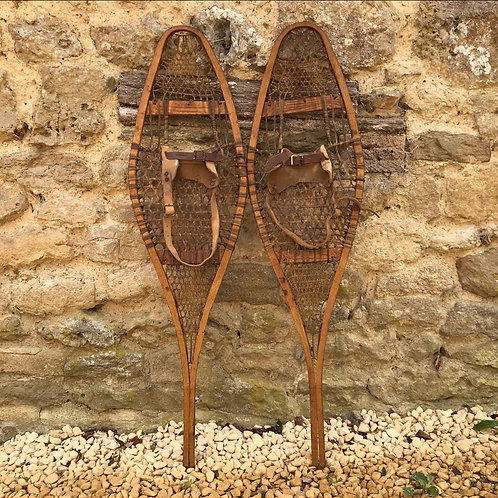 Authentic antique / vintage snow shoes