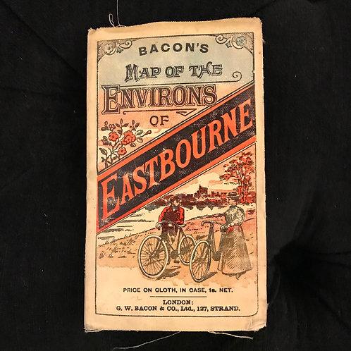 Antique copy of Bacon's Pocket Map of Eastbourne - Circa 1905