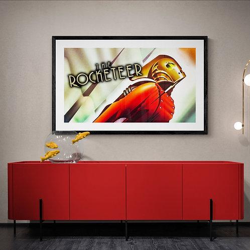 Framed Giclee print - The Rocketeer.