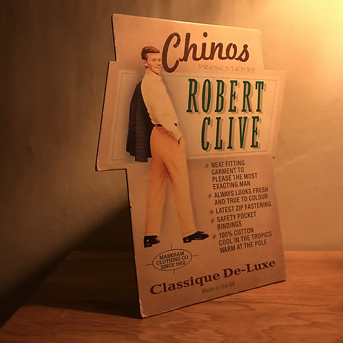 Vintage Markham Clothing Chinos Advertising Card