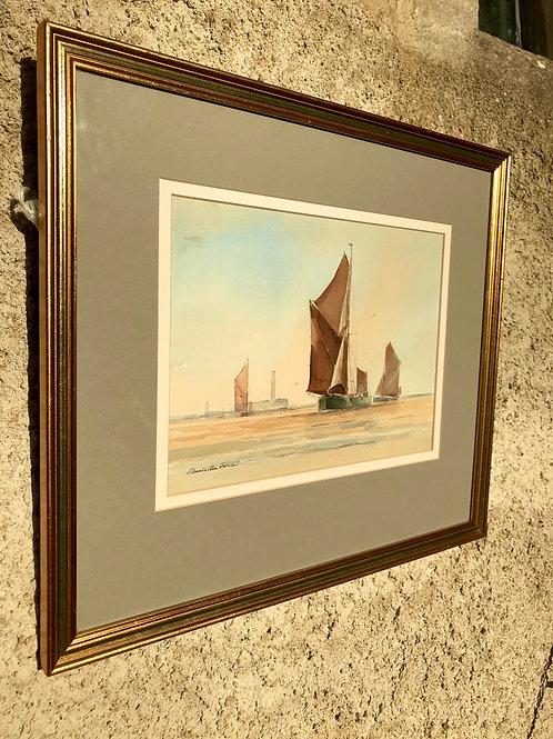 Sailing Barges on the Medway by Dennis John Hanceri