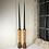 Thumbnail: Vintage Industrial Bobbin Candlesticks