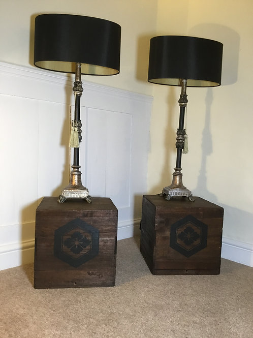 Pair of Vintage Display Plinths/Lamp Stands