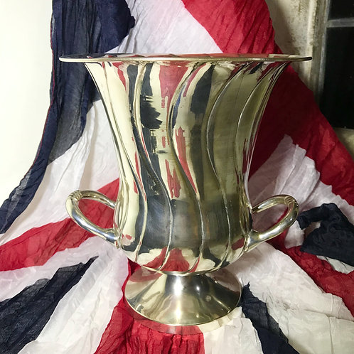 Art Deco Wave Form Trophy Urn Ice Bucket