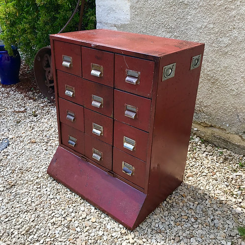 Vintage Industrial steel drawers / wine store / entertainment storage