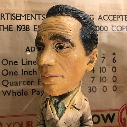 1970's ESCO Plaster of Paris caricature of Humphrey Bogart