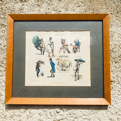 Framed Antique engraved print by Henry Thompson Alken - Sympathy 16