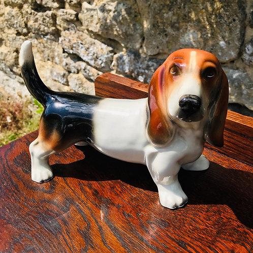 Vintage Decorative Ceramic Dog - Basset Hound