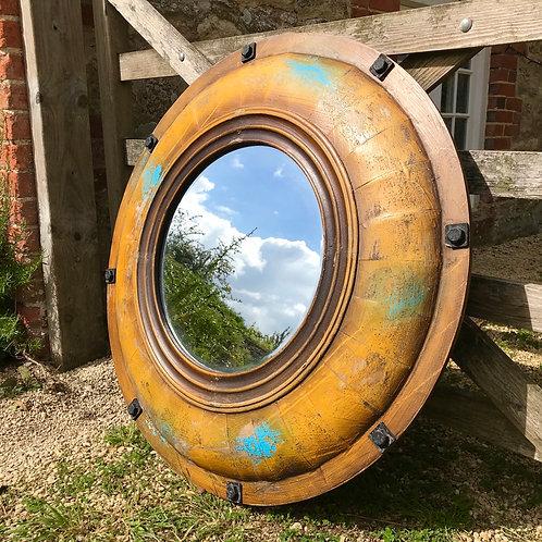 XL Yellow Submarine porthole mirror.