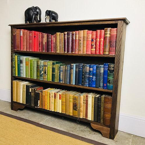 Vintage English Oak Bookcase.