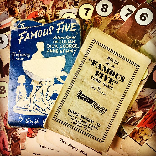1951 The Famous Five Card Game by Enid Blyton