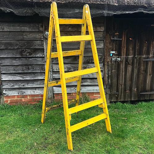 Vintage 'A' Frame Trestle Ladders