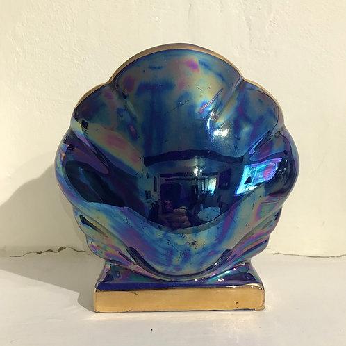 Art Deco lustreware clam shell vase