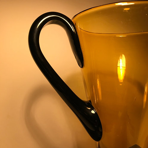 Handblown Art Deco Coloured Glass Pitcher