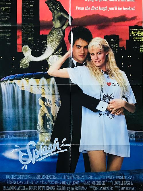 1984 Fantasy Romance - 'Splash' original film poster.