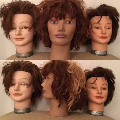 Hairdressers practice models x 3