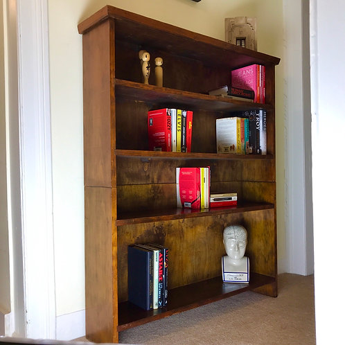 Two part four section vintage bookcase