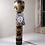 Thumbnail: Vintage Traditional Design Kokeshi doll in black artwork - ref3830