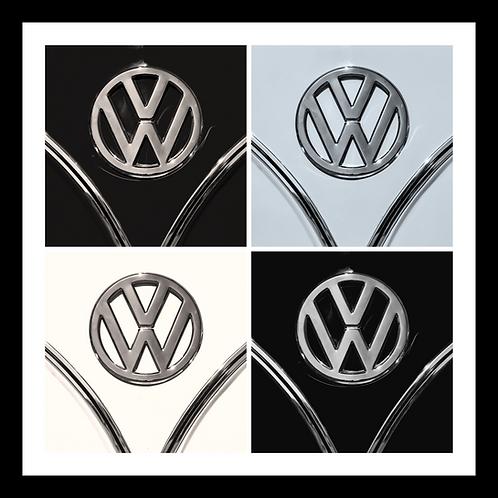 VW Black & White Quad Wall Art