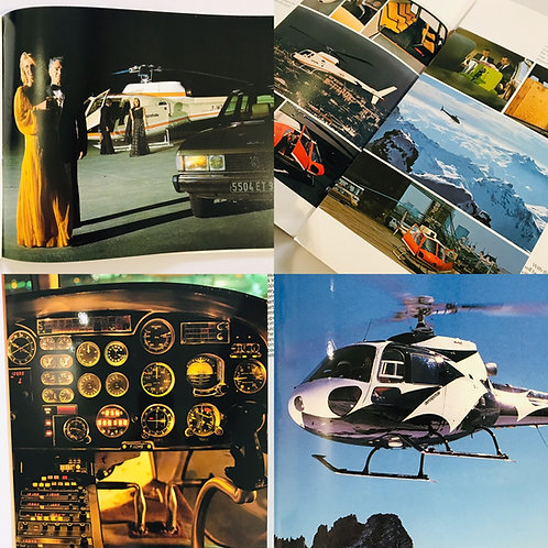 A collection of 10 vintage Ecureuil Helicopter Brochures