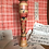 Thumbnail: Tapering slender body Traditional Kokeshi 23cm tall