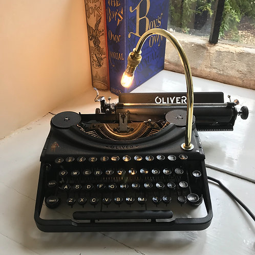 Antique Oliver Portable Typewriter Desk Lamp