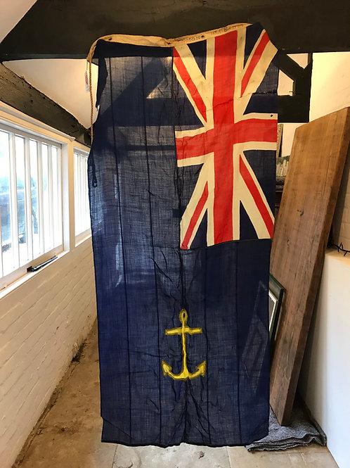 Vintage Navy Royal Fleet Auxiliary Admiralty Flag - ref 5134