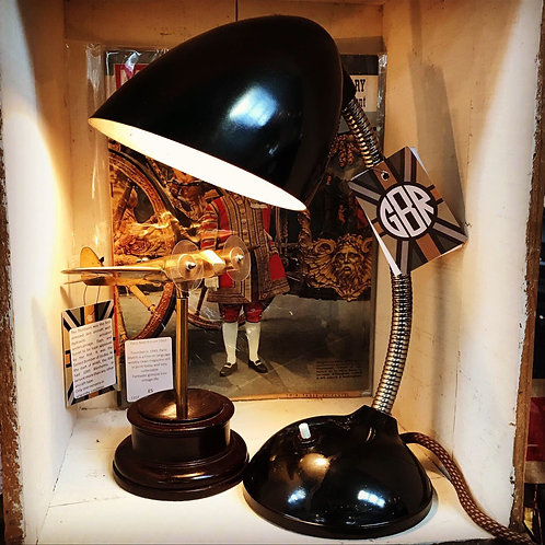 1930's ART DECO E.K.COLE EKCO Brown Bakelite Desk Lamp #1