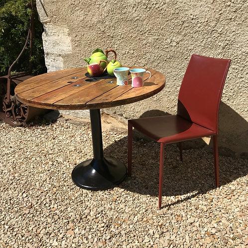 Circular Industrial Reel Dining Table