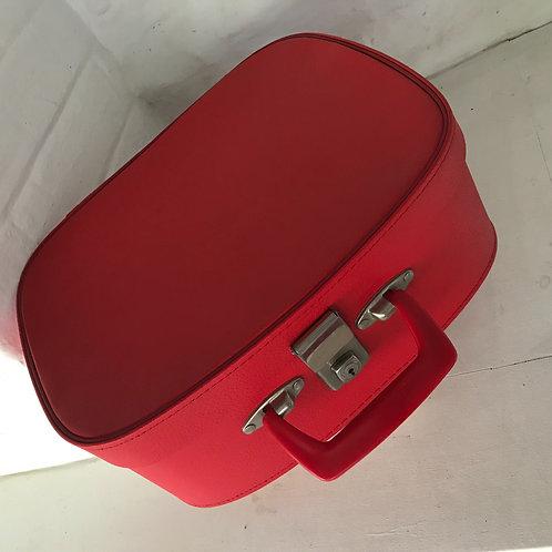 Mid Century red vinyl vanity case