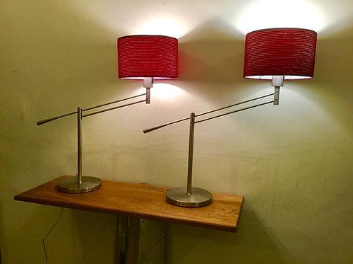 Pair of luxury 5* hotel articulated designer lamps