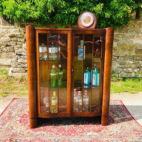 Fabulous Art Deco Glazed Display Cabinet