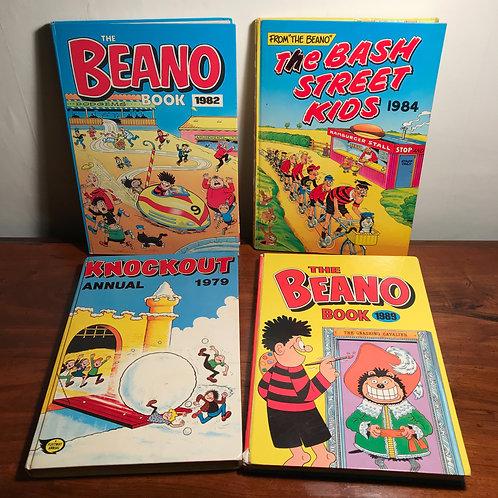 70s / 80s Kids comic annual bundle x 4