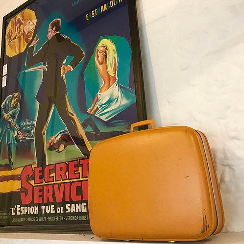 Mid Century Mustard Crown Suitcase