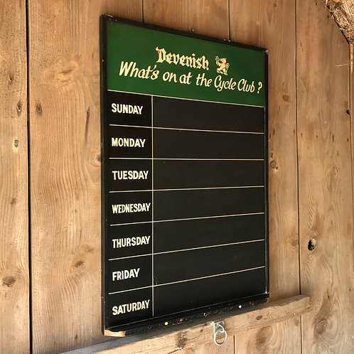 Vintage Pub Weekly Events Notice Board / Blackboard - Devenish Brewery